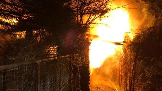 Eine Laube ist in der Nacht zu Samstag abgebrannt. (Symbolbild)
