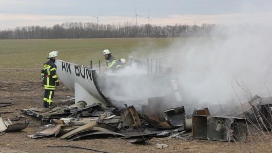 Beim Zerlegen war diese Turbine offensichtlich zu heiß geworden - Arbeiter waren zuvor mit einem Schweißbrenner am Werk.