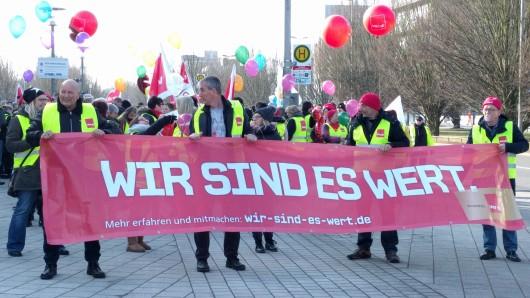 Die Gewerkschaft Ver.di hat in der Region zum Streik aufgerufen.