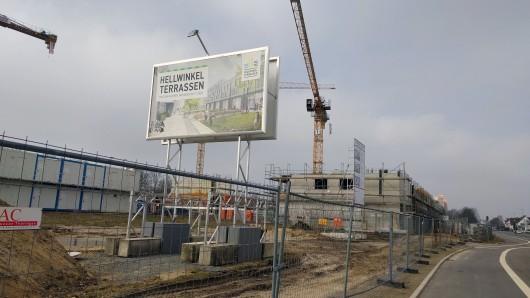 Das neue Wohngebiet Hellwinkel-Terrassen in Wolfsburg wächst. Es ist Bestandteil des Wohnungsbauprogramms, das bis zum Jahr 2020 insgesamt 6.000 neue Wohnungen vorsieht.