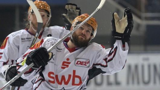 Wade Bergman, hier noch im Trikot der Fishtown Pinguins, wechselt zu den Grizzlys nach Wolfsburg (Archivbild).