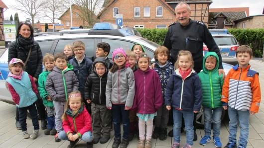 Insgesamt 17 Kinder besuchten die Polizei in Meine.