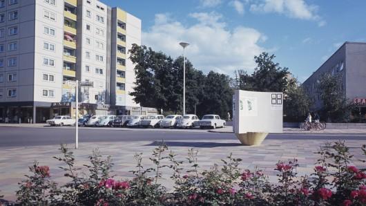 Der Marktplatz am Rabenberg, 1966.