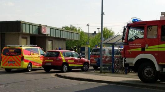 Ein Großaufgebot an Einsatzkräften ist zum Bahnhof Vechelde geeilt.