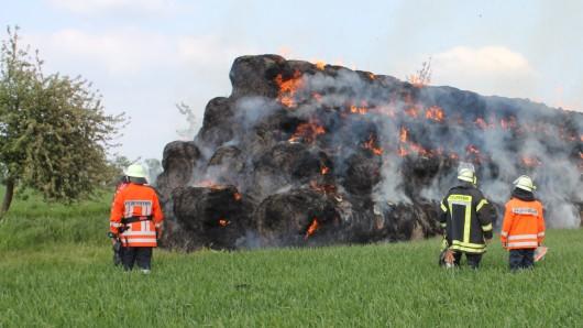 Die Feuerwehr hat sich entschieden das Feuer kontrolliert abbrennen zu lassen.