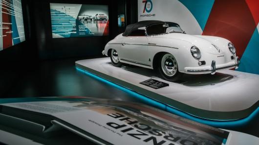 Das Herzstück der Sonderausstellung: Ein 356 Speedster aus dem Jahr 1954.