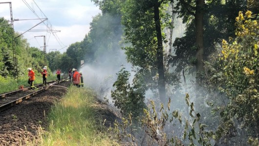 Wegen eines Böschungsbrands ist der Bahnverkehr zwischen Braunschweig und Hannover heute zum Stillstand gekommen. (Archivbild)