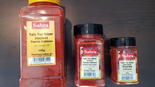 Paprika der Firma Sahra könnte krebserregende Stoffe enthalten.