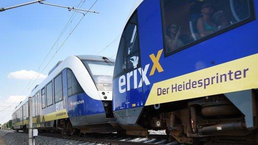 In einem Erixx-Zug hat sich im Landkreis Wolfenbüttel eine ekelhafte Szene abgespielt.   (Symbolbild)