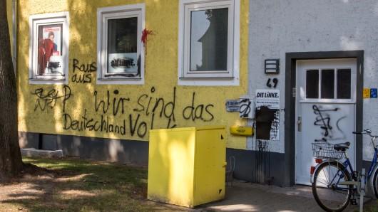 Die Linke sowie ein Büro der CDU in Salzgitter waren das Ziel der mutmaßlich rechtsgerichteten Täter.