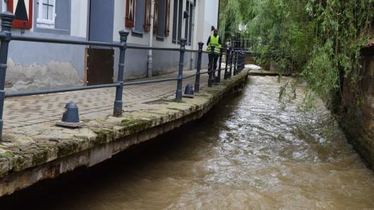 Der Weg zum Museum wurde durch das Hochwasser stark beschädigt - jetzt wird er repariert.
