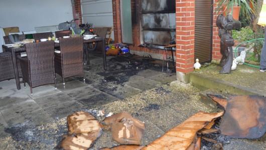 Der Nachbar hatte das Feuer schnell gelöscht.
