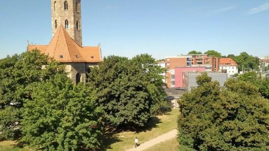 Wo sich jetzt noch eine Grünfläche und ein Trampelpfad zwischen der Langen Straße und der Gördelinger Straße erstrecken, könnte schon bald ein Wohnbauprojekt entstehen.