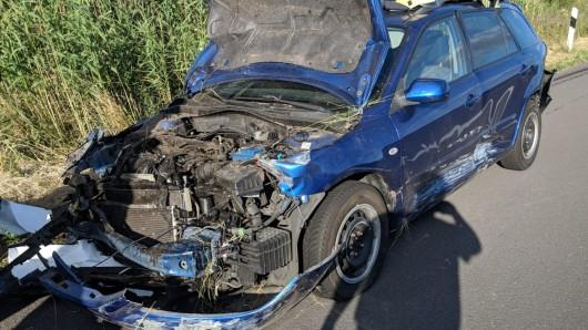 Auch der zweite beteiligte Wagen hat nur noch Schrottwert.