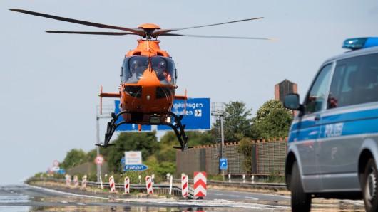 Auch ein Rettungshubschrauber wurde angefordert (Symbolbild).