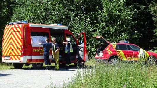 Eine Gruppe Wanderer hatte das Feuer entdeckt.