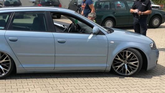 Schon vor drei Monaten fiel den Beamten der extrem tiefergelegte Audi auf.