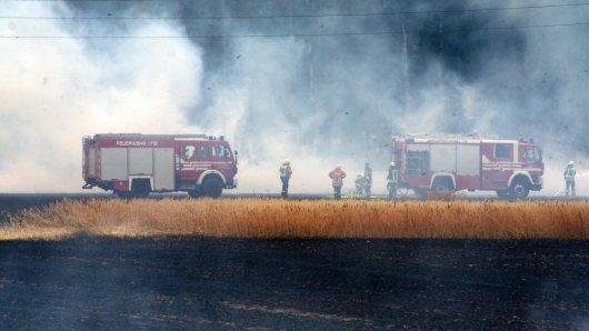 Die Wehrleute waren in dichte Rauchwolken eingehüllt.