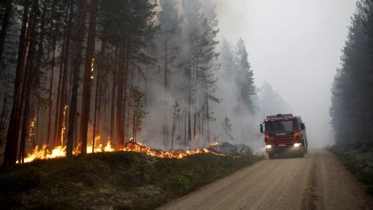 Die schwedischen Löschkräfte bekommen die seit Tagen wütenden Waldbrände allein aus eigener Kraft nicht in den Griff. Bis Freitag waren landesweit mehr als 50 Brände gemeldet worden. Mit am schlimmsten hat es die Region Dalarna getroffen, wo nun die Wehrleute aus Niedersachsen eingesetzt werden sollen.