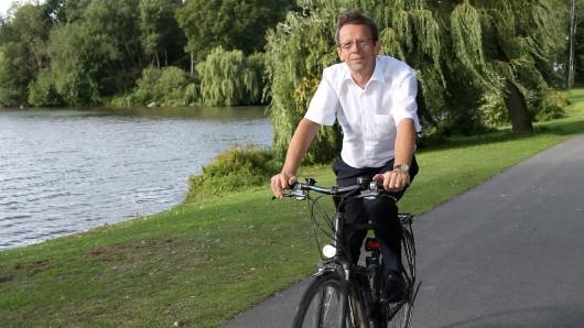 Beim Stadtradeln wieder dabei: Oberbürgermeister Klaus Mohrs.