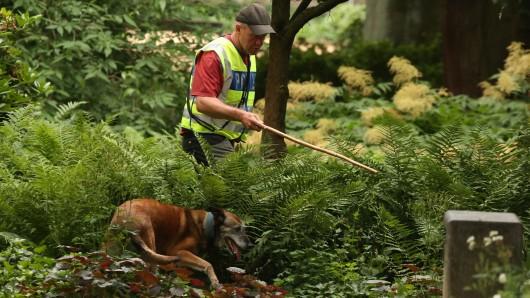 Mehrere Diensthunde der Polizei waren seit dem frühen Sonntag bei der groß angelegten Suche im Bereich Nordsteimke/Steimker Berg im Einsatz (Symbolbild).