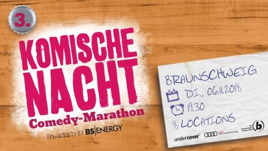 Bereits zum dritten Mal findet die Komische Nacht in Braunschweig statt.