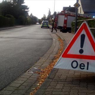 Rund 600 Meter lang war die Ölspur in Flechtorf.