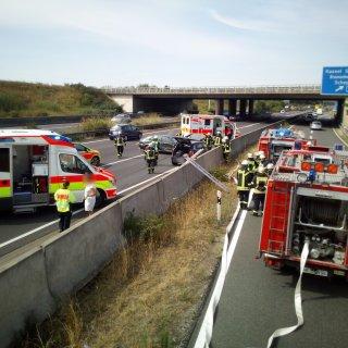 Auf der A2 ist am Vormittag ein Auto ins Schleudern geraten.