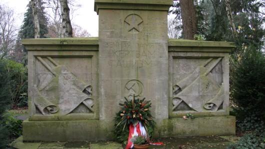 Das sowjetische Ehrenmal befindet sich wie der gesamte Ausländerfriedhof in einem schlechten Zustand (Archivfoto).