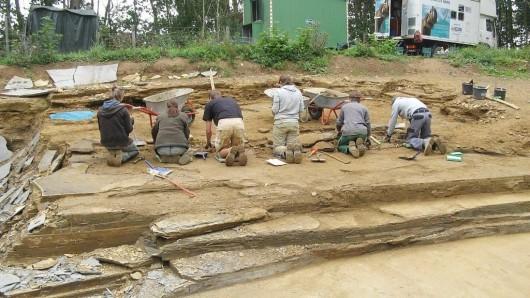 Die Grabungsstätte in Schandelah ist am Sonntag geöffnet.