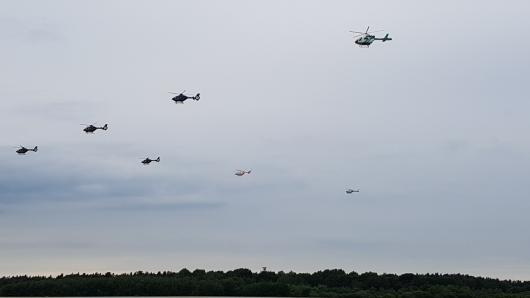 Die Bundespolizisten fliegen unter anderem über Gifhorn (Archivbild).