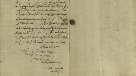 Der Brief von Otto von Guericke ist im Stadtarchiv aufgetaucht.