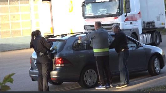 Der Fahrer des Lkw hatte selbst die Polizei gerufen.