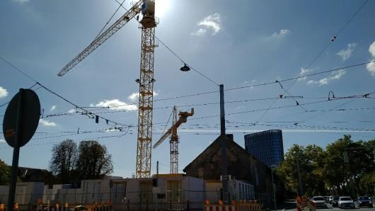 Für den Bau des Quartier St. Leonhard müssen Straßenabschnitte gesperrt werden (Archivbild).