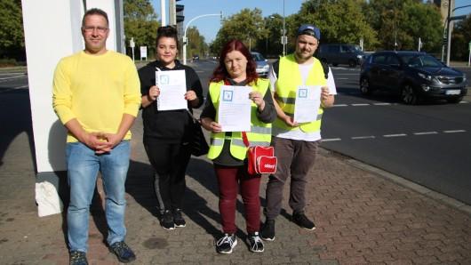 Jens, Miriam, Peggy und Philip kämpfen für mehr Sicherheit im Verkehr.