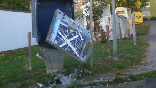 Dieser Automat flog in Schöningen in die Luft.