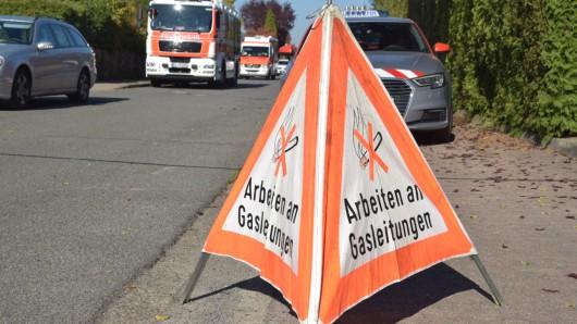 Die Gasleitung in Stöckheim wurde bei Bauarbeiten beschädigt.
