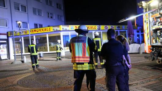 Der Brand wurde in der Nacht gegen viertel vor zwei gemeldet.