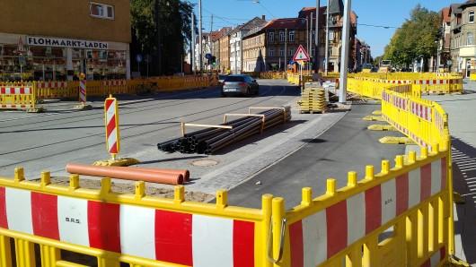 In diesem Bereich der Helmstedter Straße soll künftig nur noch Anliegerverkehr unterwegs sein.