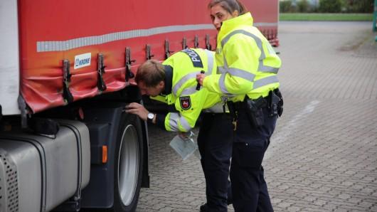 Am Donnerstag hat die Polizei in Salzgitter Lkw kontrolliert.