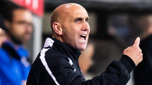 Eintracht Braunschweig-Trainer André Schubert fokussiert und optimistisch, was das Finale gegen Cottbus am Samstag angeht (Archivbild).