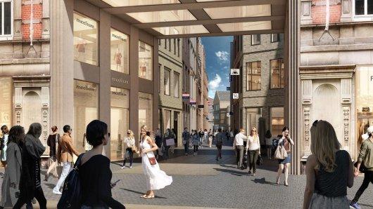 So soll die Burggasse in Braunschweig künftig aussehen.