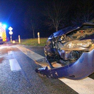 Beide Fahrer wurden bei dem Unfall auf der K74 verletzt.