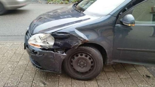 Der junge Autofahrer hatte sich ziemlich erschrocken.