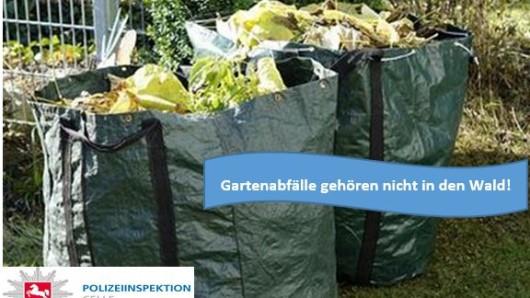 Für die Polizei ist das Entsorgen von Gartenabfällen im Wald keine Kleinigkeit.