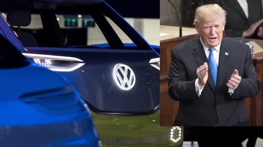 Donald Trump ist über die Investitionen von Volkswagen sehr erfreut.