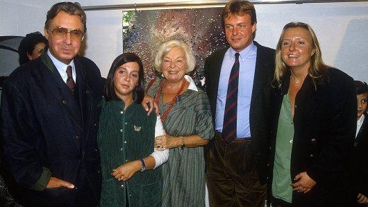 Bild aus glücklichen Tagen: Peter Alexander (li.) mit Ex-Schwiegertochter Raffaela, Ehefrau Hilde Alexander, Tochter Susanne Neumayer und Sohn Michael Neumayer