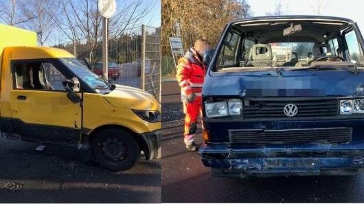 Der Fahrer des Multivans konnte nicht mehr rechtzeitig bremsen.