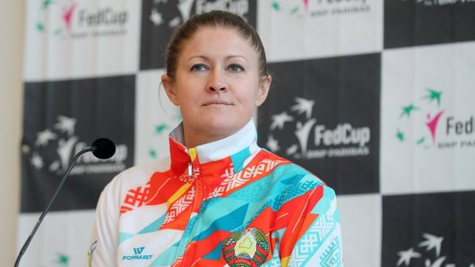 Teamchefin der Weißrussinnen: Tatiana Poutchek.