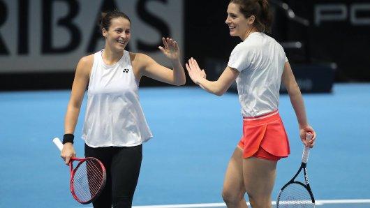 Tatjana Maria und Andrea Petkovic sind für die Duelle gegen Weißrussland im Fed Cup ausgelost worden. (Archivbild)